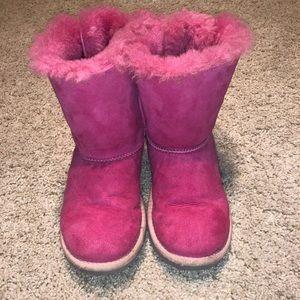 UGG little girls Pink Bailey Bow sz 1